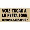 """Bases del concurs """"Vols tocar a la Festa Jove d'Horta-Guinardó?"""""""